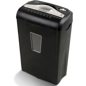 New 8 Sheet Paper Shredder Credit Card Micro Cross Cut Home Office Security