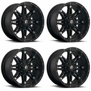 Set 4 17 Fuel Hostage D531 Black Wheels 17x9 8x6 5 12mm Lifted Chevy Gmc 8 Lug
