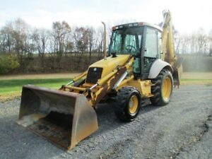 Ford New Holland 675e Tractor Loader Backhoe 4x4 Cab Ext Hoe 5230 Hours