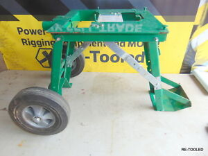 Greenlee Wire Cable Pulling Cart Folding Portable Puller Wheel Stand