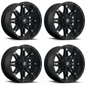 Set 4 20 Fuel Hostage D531 Black Wheels 20x10 6x135 6x5 5 18mm Lifted 6 Lug