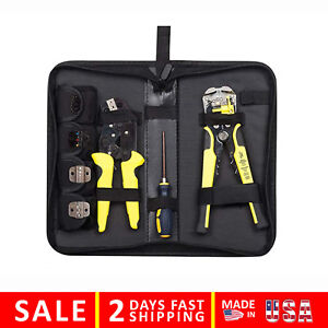 Wire Stripper Gloera Crimper Crimping Stripping Tool Cable Cutter Ratcheting Kit