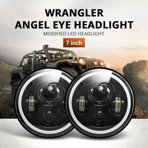 2pcs 7 Inch Round Led Headlight Drl Signal Light For Jeep Wrangler 2007 2018 Jk