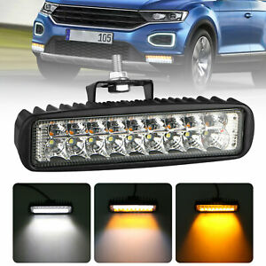 6 Inch Flush Mount Led Work Light Bar Flood Spot Driving Fog Lamp White