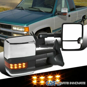 Chevy 88 98 C10 C k Tahoe Suburban Power Towing Mirrors led Signal Left right