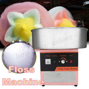 New Electric Commercial Cotton Candy Floss Machine Sweet Sugar Cotton Maker 220v
