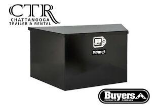 Buyers Products 1701285 16x16x49 37 Inch Black Steel Trailer Tongue Truck Box
