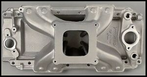 Edelbrock Bbc Victor Jr Oval Port Single Plane Intake Manifold 2904