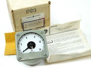 General Electric Db 14 Dc Ammeter 15a 50 101113fazz2 Speed Variator Panel