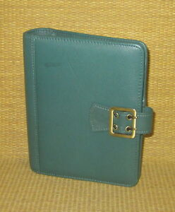 Compact 1 Rings new Green Leather boston Franklin Covey Planner binder