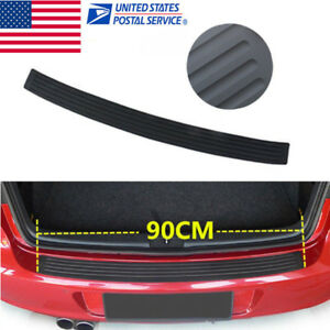 Black Decorative Rubber Sheet Rear Guard Bumper Sticker Panel Protector For Bmw