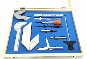 Engineer Machine Tool Kit Set Automatic Center Punches Protractor
