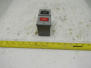 General Electric Cr101ja1a 110 240v Ac dc Momentary Contact Stop Start Box