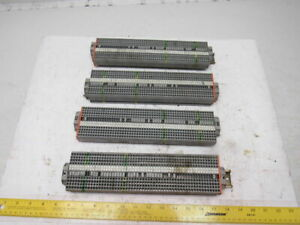 Wago Iec 60947 7 1 Iec 947 7 2 Din Rail 50 Terminal Block Strip 20a Lot Of 4