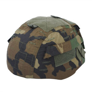 Tactical Woodland Camo Helmet Cover for MICH TC-2002 ACH Helmet Military Hunting