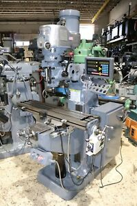 Bridgeport Series I Vertical Mill 9 X 42 Table Tech Droii 2m X y Dro