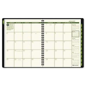 At a glance Recycled Classic Monthly Large Desk Planner 12 Months Black Cover