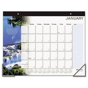 At a glance Full color Motivational Monthly Desk Pad wall Calendar 22x17