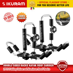 Ikuram 2 Bilateral Kayaks Roof Racks Carrier Canoe Ski Holder Folding Universal