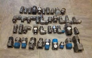 Lot Of Misc Swagelok Parker Fittings Qty 40