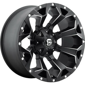 20x10 Black Fuel Assault 5x5 5 5x150 18 Rims Open Country Mt 35 Tires