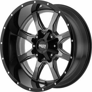 20x12 Gray Black Mo970 6x135 6x5 5 44 Rims Open Country Mt 35 Tires