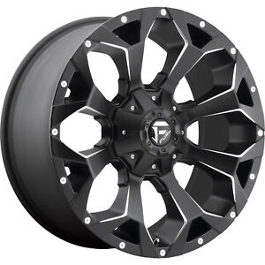 20x9 Black Fuel Assault 5x5 5 5x150 1 Rims Open Country Mt 35 Tires