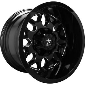 20x12 Black Milled 73r 6x135 6x5 5 44 Wheels Open Country Mt 35 Tires