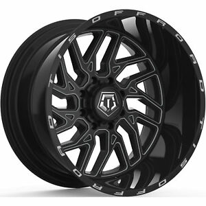 20x12 Black Milled Tis 544bm 5x5 5 5x150 44 Wheels Open Country Mt 35 Tires