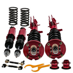 Coilovers For Ford Mustang 05 14 Adjustable Height Damper Shocks Absorbers Red