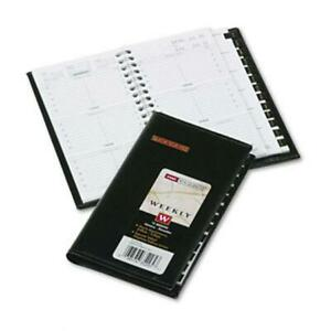 At a glance Weekly Appointment Book With Memo Pad Refillable 3 1 4x6 1 4 Black