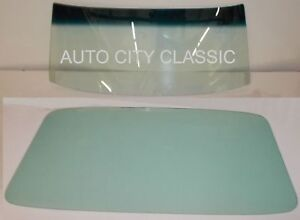 1966 1967 Ford Fairlane Glass Windshield And Back Glass Mercury Comet Hardtop