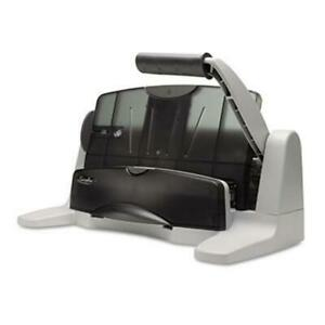 Swingline 40 sheet Light Touch 2 To 7 hole Adjustable Punch 9 32hole Black gray