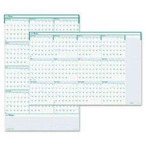 House Of Doolittle Express Track Reversible erasable Yearly Wall Calendar 24x37