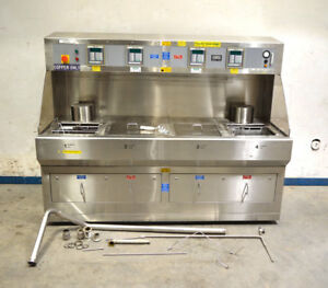 Leatherwood Lpmmc80350797 4tank Solvent Wet Process Cleaner Bench Stainless 7 5