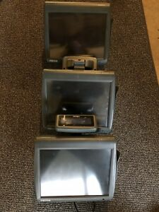 Three 3 Micros 5a Workstation Pos Terminals Lot W 2 Scanners And Stands Wow