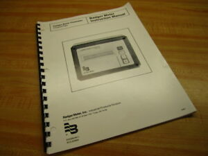 Badger Meter Rca 203605 Badger Meter Instruction Manual 940891