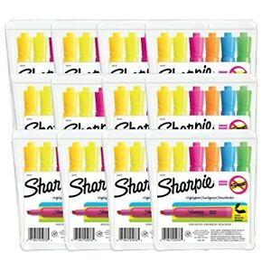 Sharpie Tank Style Highlighters Chisel Tip Assorted Colors 12 Packs Of 6 72