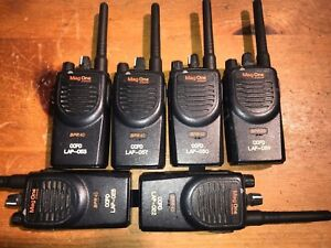 6 Motorola Bpr40 Mag One Uhf 8 Ch Aah84rcs8aa1an New Batteries And Antennas
