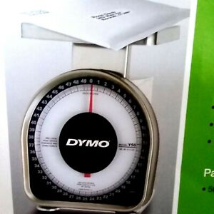 Dymo 50 Lb Mechanical Scale Y50 New In Box Postal Stainless Steel Platform