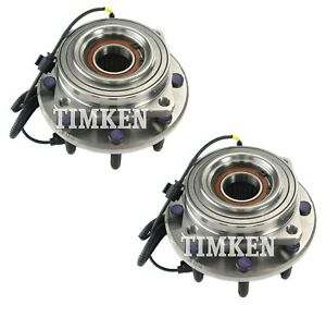 Pair Set 2 Front Timken Wheel Bearing Hub Kit For Ford F 250 F 350 Sd 11 16 4wd