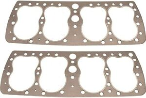 1946 48 Ford 24 Stud Flathead Big Bore Graphtite Head Gaskets Pair 41a 6051 Bb