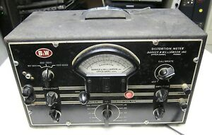 B W Barker Williamson Distortion Meter Model 891 Vintage Radio tv