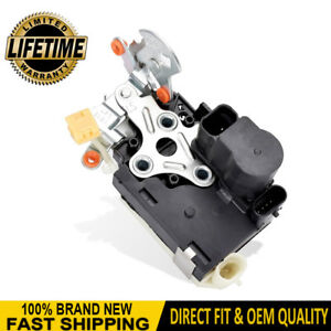 Door Lock Actuator Integrated Latch Lh Driver Side Front For Chevy Gmc
