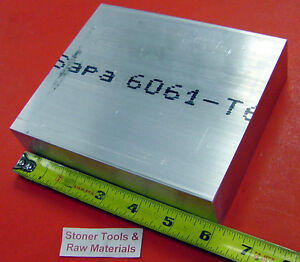 2 Pieces 1 1 2 X 6 Aluminum 6061 Flat Bar 6 Long Solid T6511 Plate Mill Stock
