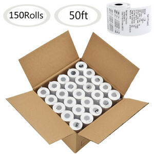 150 Roll 2 1 4 X 50 Thermal Paper Cash Register Pos Receipt Paper Vx520 Ict220