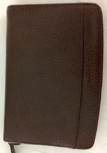 Filofax Personal Finsbury Brown Pebbled 6 Ring Leather Zipped 6 X 8 Organizer
