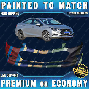 New Painted To Match Front Bumper Replacement For 2016 2017 2018 Chevy Cruze