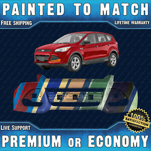 New Painted To Match Front Bumper Replacement For 2013 2016 Ford Escape S