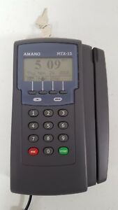 Amano Mtx 15 A300 Time Guardian Complete Automated Time Clock System